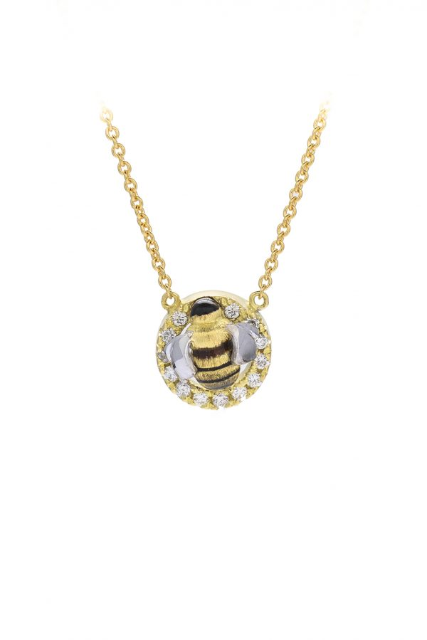 18ct yellow gold Honey Bee Pendants