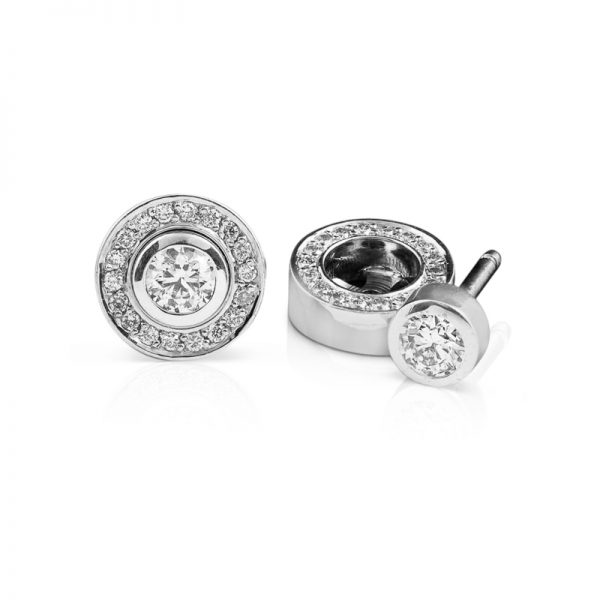 Rubover diamond studs with removable halo1