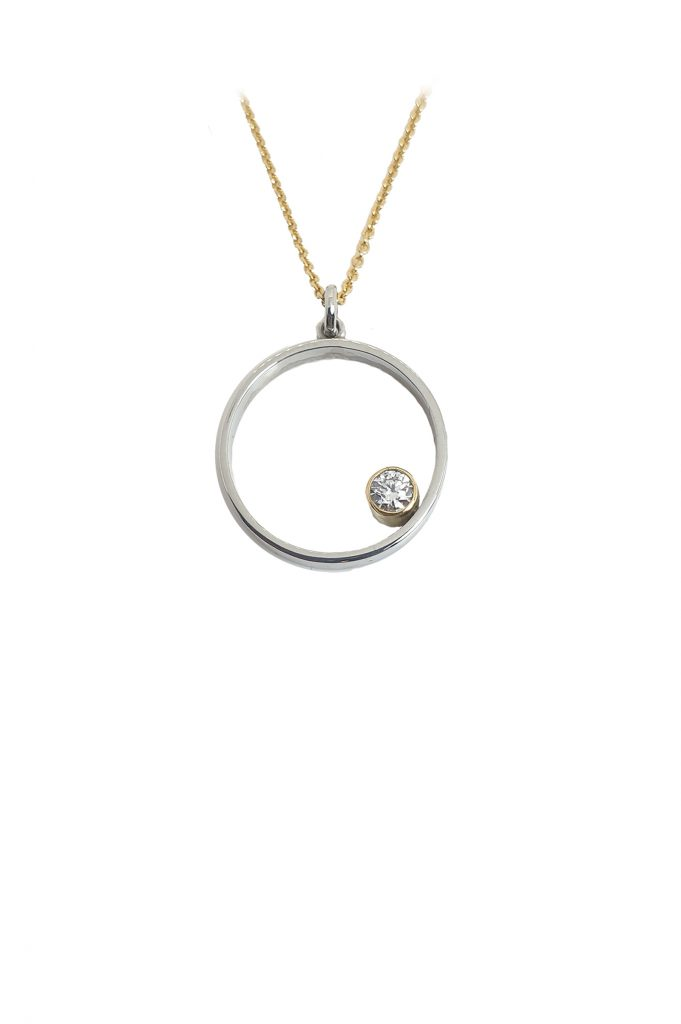 Lake Wanaka - The perfect place - Platinum and Diamond pendant