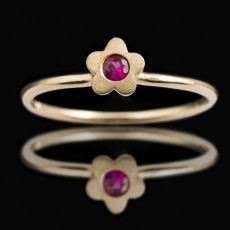 18ct Yellow Gold Baby Ruby