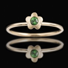 18ct Rose Gold Baby Tsavorite [18ct Rose Gold Baby Tsavorite  | M | Green]
