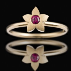 18ct Yellow Gold Medium Pointy Ruby
