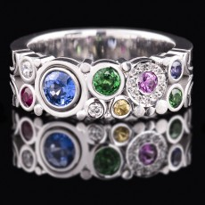 Coloured Carbonated Ring Narrow [Style 1]