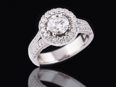 Diamond Halo Dress Ring