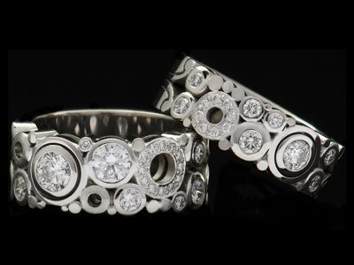 Carats carbonated wide and narrow traditional rings