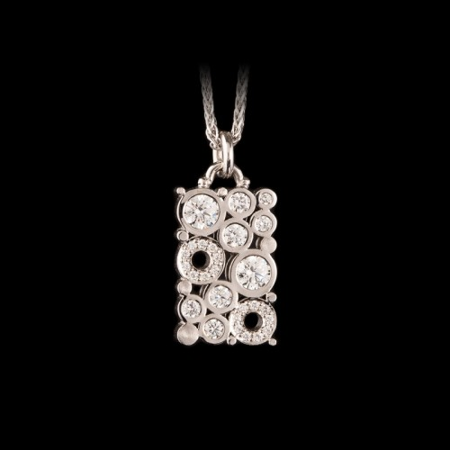 Carbonated Diamond Pendant