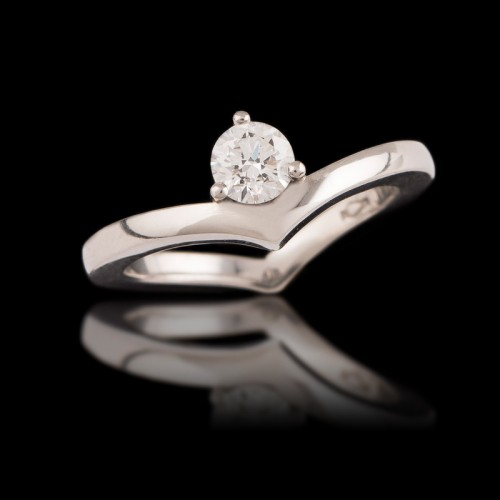 Diamond Hidden Heart Ring