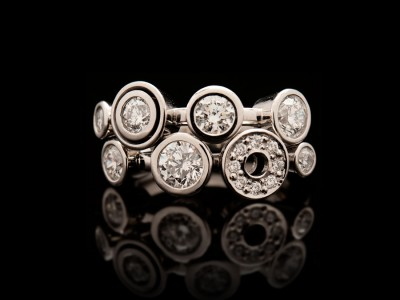 Carbonated Double Diamond Ring