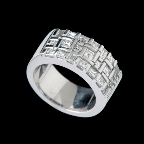 Extra Wide Water Diamond Ring