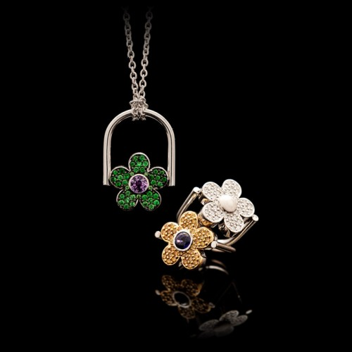 Flower Reversible Ring/Pendant