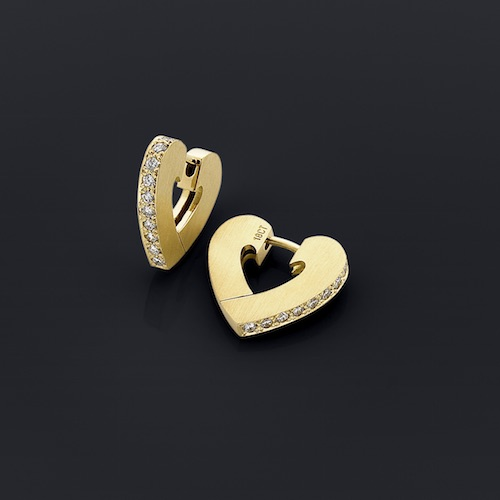 Heart Clip Gold Earrings