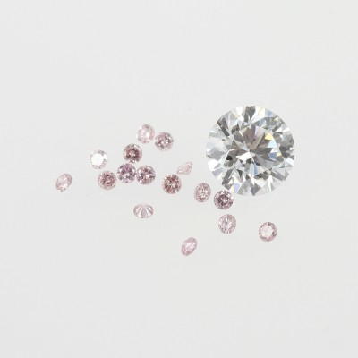 Pink and white diamonds