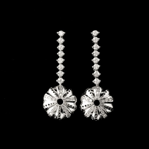 Baby Kina Long Drop Diamond Earrings