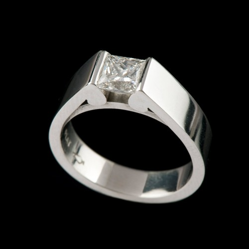 Life Wide Semi Tension Diamond Solitaire Ring