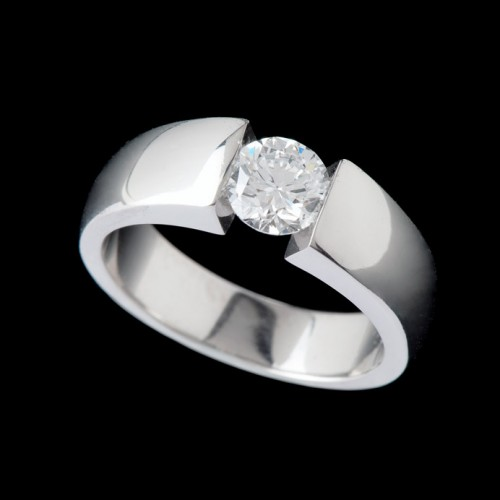 Modern Solitaire Diamond Ring