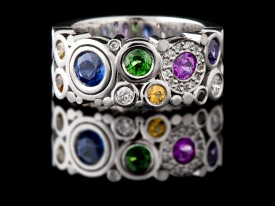 Multi-Coloured Carbonated Ring Wide