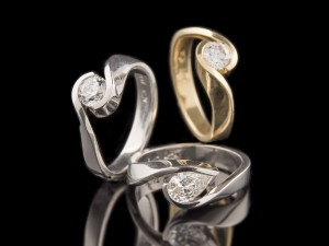 Sculpted Diamond Rings