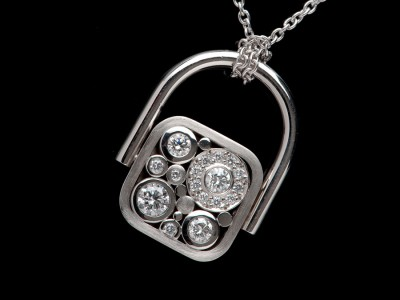 Carbonated Transformable Diamond Ring/Pendant