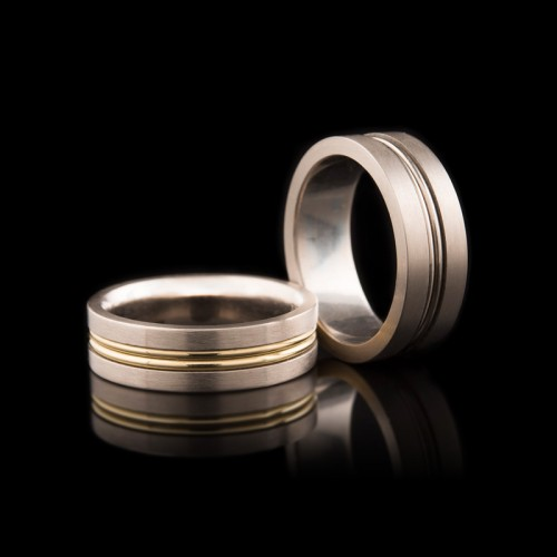 Wire Wrapped Gents Wedders [Style 4 | M | Gold]